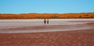 Chris and Di exploring - Lake Gairdner NP