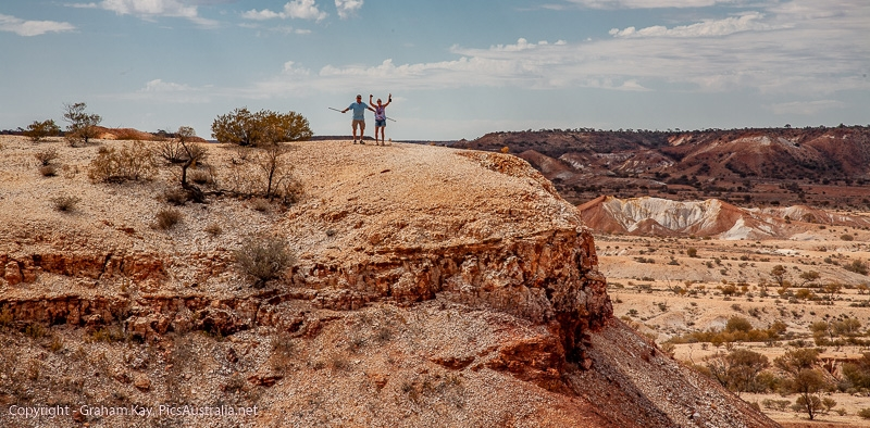Harold and Di exploring The Painted Desert