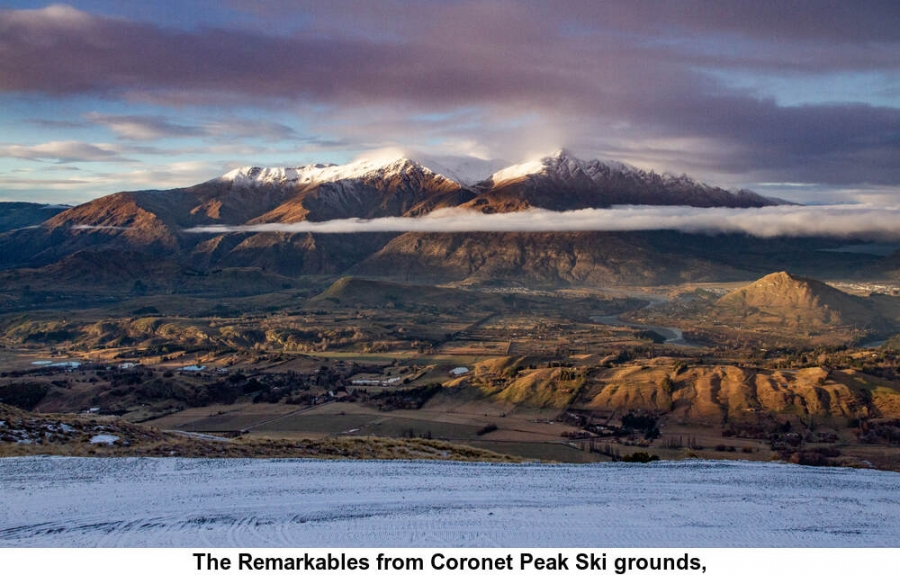 The Remarkables from Coronet Peak Ski grounds,